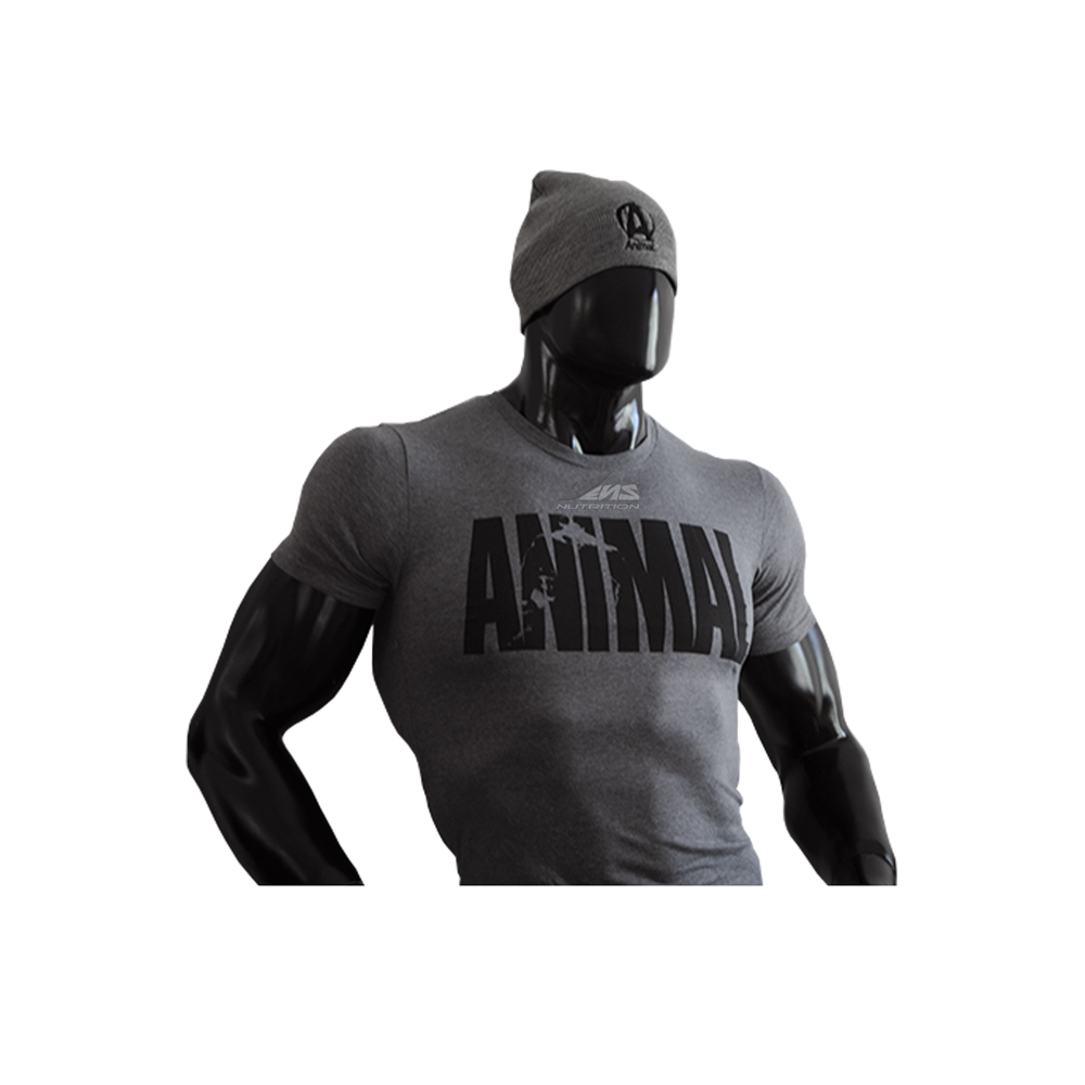 ANIMAL-T-SHIRT—ICONIC—GREY—Limited-Edition-by-VENS-NUTRITION